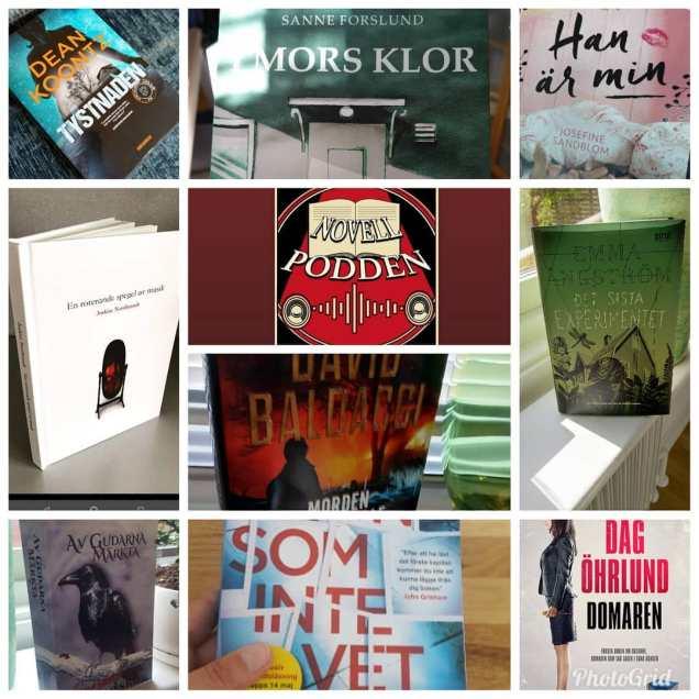 Böcker jag hann med att läsa i september.  1 Ljudbok och 1Podd samt de övriga i böcker. En salig blandning av mörker, mord och lite kärlek.  Mina absoluta favoriter är Av gudarna märkta och Novellpodden #7 Phantasmagoria och Han är min. Har ni inte läst någon av dessa böcker är det dags att göra det. @snezanalindskog #avgudarnamärkta @joakim.nordbrandt #phantasmagoria @josefinesandblom #hanärmin